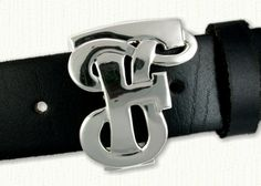 Custom Initials TF Monogram Belt Buckle