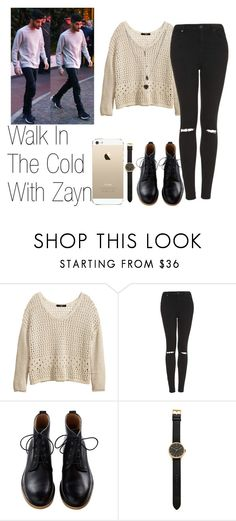 """Walk In The Cold Day With Zayn"" by the4dipshits ❤ liked on Polyvore featuring H&M, Topshop, Tsovet, women's clothing, women, female, woman, misses and juniors"