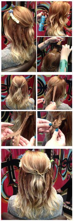 Meaghan_Masterson2 #festivalhair #hairtutorial #coachellahair #sexyahir #howto #DYI #Concerthair