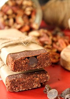 German Chocolate Protein Bars