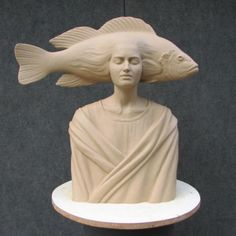 """Inner Sea"" c. Ernest Caballero (shown in clay)"