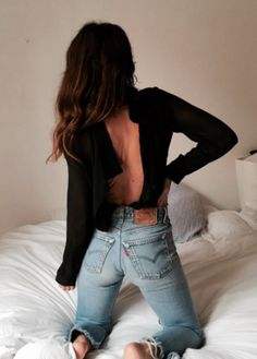 open backs + levis denim