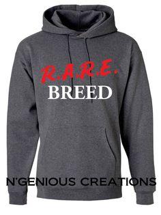 Rare Breed Men's Hooded Sweatshirt Hoodie by NGeniousCreations, $40.00