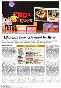 21 September 2015 This year, the organisers will throw the floor open to the public through 'The Next Big Thing' programme. Volunteer Groups, Social Media Impact, The Next Big Thing, Organisers, Ready To Go, One In A Million, September, Public, Floor