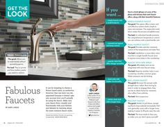 In an article for the Angie's List magazine, we weigh in on the pros & cons of popular faucet styles.