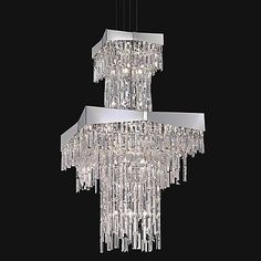Riviera 2-Tier Chandelier by Schonbek Lighting at Lumens.com