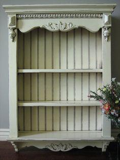 Antiqued white shelves originally from Neiman Marcus ~ European Paint Finishes: ~ Shabby French Wall Shelves ~