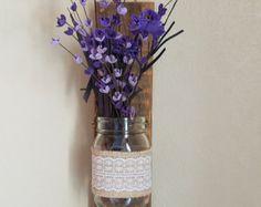 Mason Jar with Flowers Wall Decor