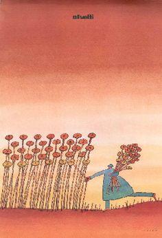 Olivetti poster by J.M. Folon