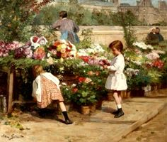 The Athenaeum - The Young Flower Seller (Victor Gabriel Gilbert - )