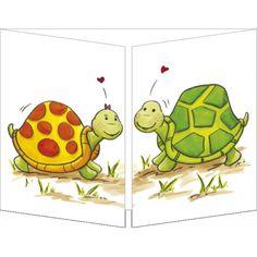 """Sophie Turrel carte postale  Cache-Cache """"Un amour de tortues"""""""