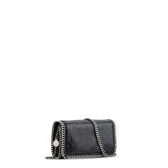 STELLA McCARTNEY Black Falabella Crystal Stones Cross Body Bag Falabella Shoulder Bags D r
