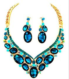 Affordable Wedding Jewelry Teal Blue Green Ab Austrian Crystal Gold Chain Necklace Post Earrings Set Affordable Wedding Jewelry http://www.amazon.com/dp/B017C21HRS/ref=cm_sw_r_pi_dp_PWqqwb0QJKQQH