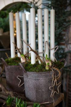 Christmas/Hjärterum #egen adventsljusstake #jul #inspirationer Nordic Christmas, Christmas Is Coming, Rustic Christmas, Winter Christmas, Wedding Decorations, Christmas Decorations, The Ranch, Creative Crafts, Holiday Crafts