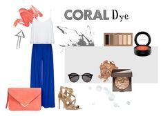 """Coral Dye"" by tizocaspp ❤ liked on Polyvore featuring Urban Decay, Tamara Mellon, Alice + Olivia, Laura Mercier, MAC Cosmetics and Yves Saint Laurent"