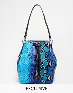 Paul's Boutique Hattie Duffle Bag in Blue Snake