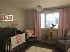Baby girl Charlie's nursery