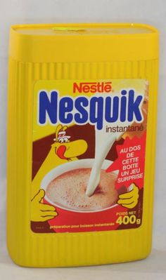 Old Nesquik package with old mascot named Groquik... a very long time ago!