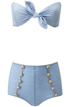 High-Waisted Swimsuits - High-Waisted Retro Bikinis