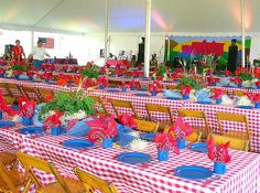 photos of country western party table settings | Western Table Decor