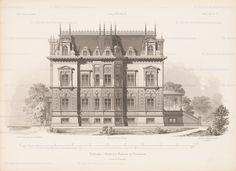 Titel   Schloss von Homeyer, Ranzin. (Aus: Architektonisches Skizzenbuch, H. 157/4, 1879.) | Lucae, Richard  Schloss von Homeyer, Ranzin. (Aus: Architektonisches Skizzenbuch, H. 157/4, 1879.) | Lucae, Richard