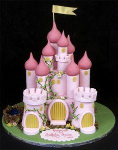 Fairy Castle Themed Birthday Cake