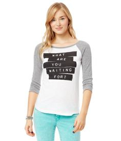 3/4 Sleeve Waiting Graphic T ($15.05)
