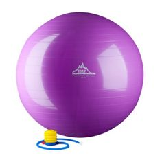 Black Mountain Products 2000-Pound Anti Burst Exercise Stability Ball with Pump, Purple, 65cm