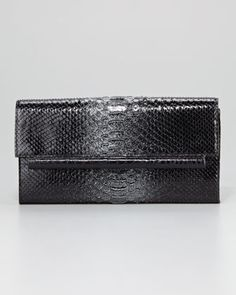Crocodile-Python Clutch by Nancy Gonzalez at Neiman Marcus.
