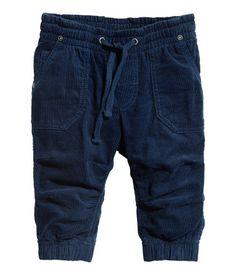 Lined corduroy pants