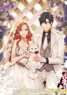 Jumin x Mc this is adorable art by: Khaizu-san (instagram)