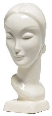 Art Deco Busts circa 1930s.  American Art Clay Company, Inc., Indianapolis, Indiana
