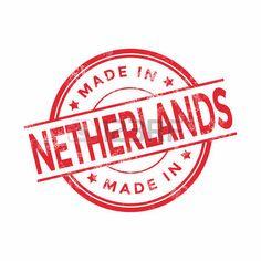 holland stamp: Made in Holanda roja del vector gráfico. sello de goma redonda aislada en el fondo blanco. Con textura de la vendimia.