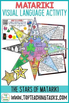 Engage your students in the Matariki Celebrations with our interactive Stars of Matariki Visual Language Activity! Your students will learn about each of Writing Resources, Teaching Resources, Maori Songs, Explanation Writing, Star Facts, Higher Order Thinking, Primary Classroom, Language Activities, Thinking Skills