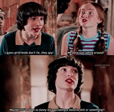 i has this scene replaying in my head all morning, thank you god for putting this in front of my eyes Stranger Things Fotos, Stranger Things Quote, Stranger Things Have Happened, Stranger Things Season 3, Stranger Things Aesthetic, Stranger Things Netflix, Saints Memes, Drama, Best Shows Ever