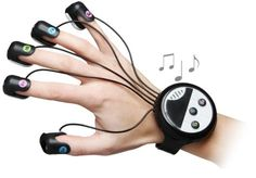 Wrist-mounted finger piano
