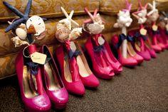 Pink and navy blue wedding.  Pink wedding shoes. seashell bouquet. beach theme wedding.