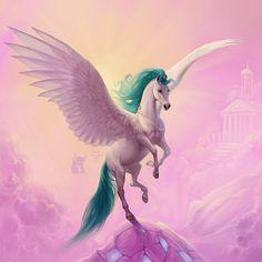 Pegasus, Marianna Gadzhy on ArtStation at https://www.artstation.com/artwork/DNb80