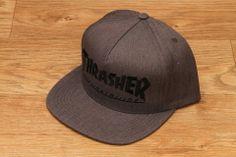 5188c46ecc7 Huf X Thrasher Snapback Gray Heather