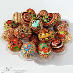 Real Custom Designed Traditional Ukrainian Chicken and Goose Easter Eggs - Customized specially for you.