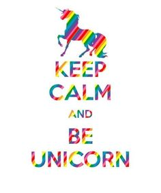 Feelin' down? Just be a UNICORN! We will post new images and statuses today!!! Cya l8r SUSHICORNS!<3