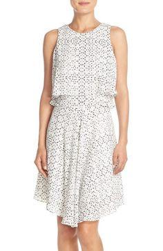 Ivanka Trump Print Asymmetrical Popover Dress available at #Nordstrom