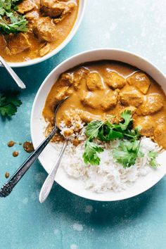 Chicken Tikka Masala - creamy, flavorful, and ready in 30 minutes! Made this last night (without the yogurt and will a little extra tikka masala paste) and it was DELECTABLE. Like, I licked the serving spoon after dinner, it was so good. Indian Food Recipes, Asian Recipes, Healthy Recipes, Simple Recipes, Healthy Meals, Keto Recipes, Oven Recipes, Ketogenic Recipes, Healthy Drinks