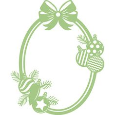 Silhouette Design Store: oval christmas frame