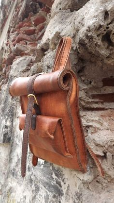 Hand made leather backpack