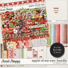 {Apple Of My Eye} Bundle by Digilicious Design available at Sweet Shoppe Designs http://www.sweetshoppedesigns.com/sweetshoppe/product.php?productid=28997&cat=0&page=1 #digiscrap #digitalscrapbooking #digiliciousdesign