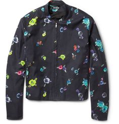 Raf Simons Flower-Print Cotton-Twill Bomber Jacket | MR PORTER
