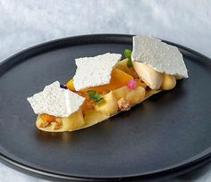Basil and Mango Vacherin - mango sorbet,Basil ice cream , passion fruit cremeux , lime jelly, almond crumble , coconut meringue , mango compote for my class in Manila with @karinarc_5 @thegastronomiegroup #bachour #bachour1234 #bachoursimplybeautiful #bachourclass #bachourchocolate photo by @thefloydjhocson .