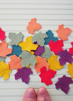 Fall Crochet Leaves