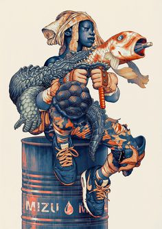 Mixed Media Illustrations by James Jean